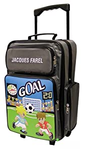 Jacques Farel Childrens Trolley Suitcase Hand Luggage Soccer from Jacques Farel Kids
