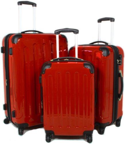 BEIBYE ROT 3 tlg. Reisekofferset (XL/L/Boardcase)