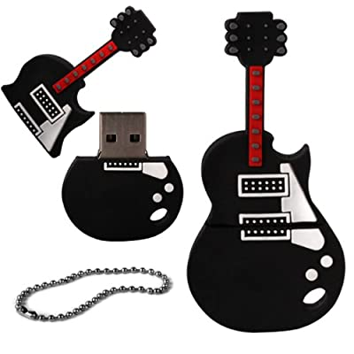 iGloo 8GB Novelty Electric Guitar USB 2.0 Flash Drive Data Memory Stick Device - Black and White from iGloo
