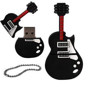 igloo cl usb 2 0 en forme de guitare lectrique noir. Black Bedroom Furniture Sets. Home Design Ideas
