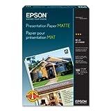 Epson Presentation paper. 100 SHEET 13X19 A3 MATTE PHOTO QUALITY 720DPI INKJET PAPER PAPER. Super B - 13' x 19' - 27lb - Matte - 90 GE/101 ISO (D65) Brightness - 100 / Pack - Bright White