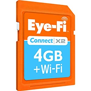 Eye-Fi Connect X2 4 GB SDHC 802.11b/g/n Wireless Flash Memory Card