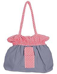 Bhagidhari Handloom Cotton 5 L Beach Tote Bag (SUSY-2)