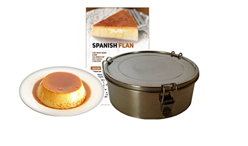 Flanera Flan Maker 1.4 quart Stainless Steel Recipes Included