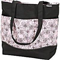 Modern Diaper Bag Black/Pink front-940628