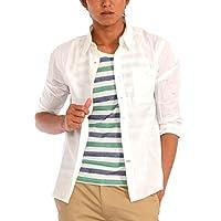(スペイド) SPADE シャツ 七分袖 メンズ タンクトップ 2枚セット Yシャツ タンク 【w418】