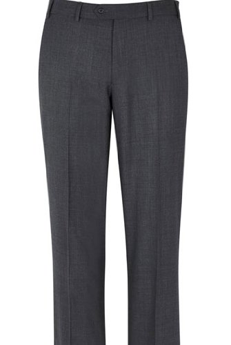 Beaulieu Plain Fronted Suit Trouser 32inch Waist 29inch, Grey
