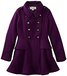 Jessica Simpson Big Girls\'  Baby Boucle Coat, Purple, 14/16