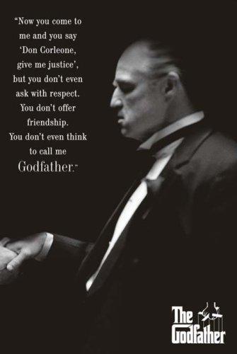 (24x36) Godfather Movie (Brando, Respect) Poster Print (Mafia Pictures compare prices)