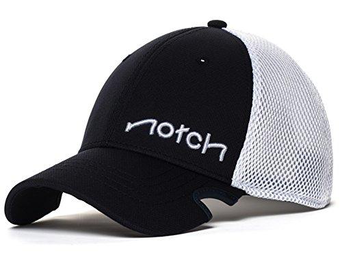 Notch Men s Classic Stretch Fit Baseball Cap S M Navy White - Import ... 08332647ac4
