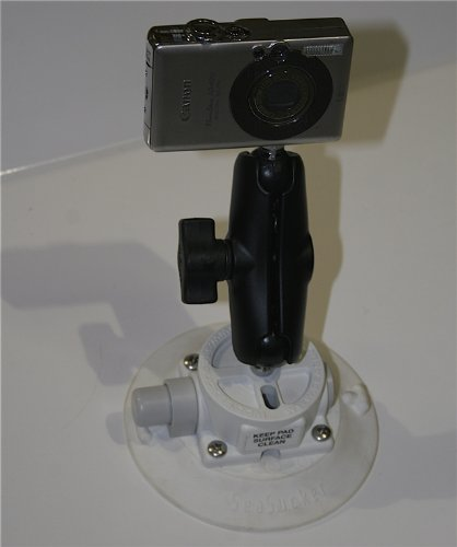 SeaSucker Vacuum Mounted Marine Camera Mount with 4 1/2 inch cup