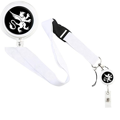translucent-retractable-badge-holder-reel-key-chain-reel-with-white-lanyard-for-key-cards-and-id-car