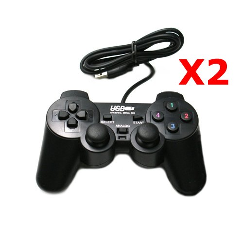 2 x USB GamePad Game Controller JoyPad for PC Computer ...