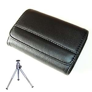 first2savvv new quality black camera case for Sony DSC-W830 with mini tripod
