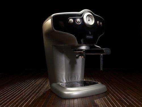 Starbucks sirena espresso machine, stainless and black