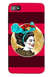 Omnam Girl Printed Joker with Red Purple Background for BlackBerry Z10
