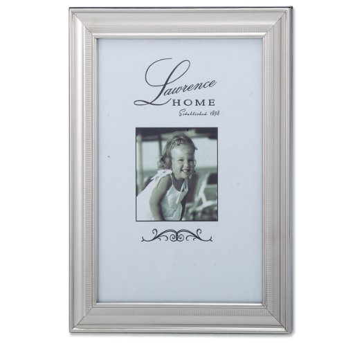 Lawrence Frames 710346 Tailored Metal Silver Picture Frame, 4 by 6-Inch lawrence d lawrence the rainbow
