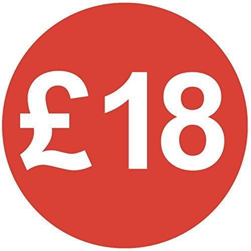 Audioprint Lot. 5000Lot de £18prix autocollants 30mm rouge