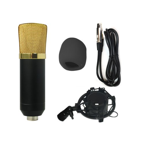 Hd-Hynudal® M7 Black Studio Condenser Microphone With Black Universal Microphone Shockmount