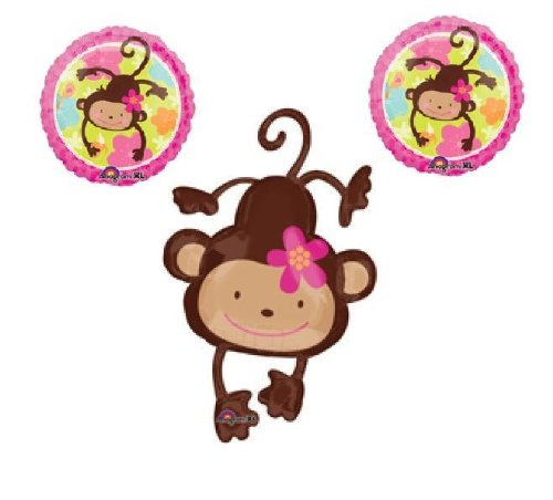 Fisher price monkey baby shower decorations