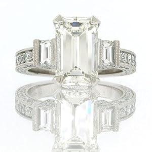 5.49ct Emerald Cut Diamond Engagement Anniversary Ring