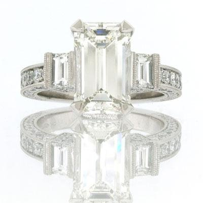 5.49ct Emerald Cut Diamond Engagement Anniversary Ring