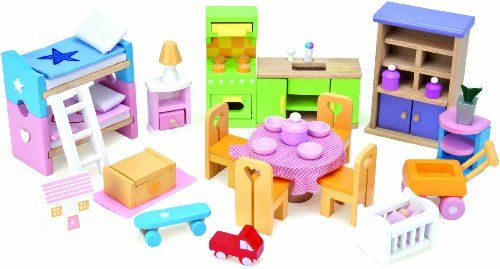 Le Toy Van Starter Furniture Set - Dolls House Wooden Accessory Set