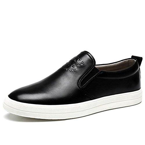 Scarpe in pelle inverno autunno moda tendenza mocassini in vera pelle casual personalità da uomo , black , 44