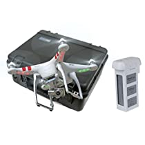 DJI Phantom 2 Vision+ Spare Battery and GoProfessional Case Bundle
