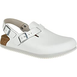 Birkenstock Unisex Professional Tokyo Super Grip Leather Slip Resistant Work Shoe,White,38 EU/7-7.5 N US