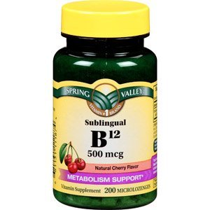 Spring Valley:Sublingual Dots Vitamin B-12, 500 mcg (200 Cherry Microlozenges)