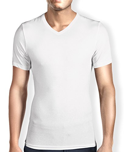 Men 39 S Ultra Soft Bamboo V Neck T Shirt Undershirt