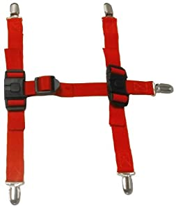 Canine Footwear Suspenders Snuggy Boots for Dog, X-Large, Red