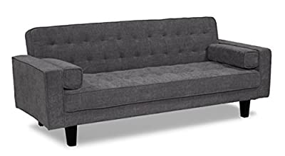 Serta Dream Convertible Bahama Sofa, Steel