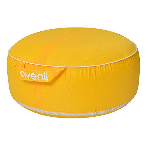 Sitzsack Avenli Garden Pool Pouf II - aufblasbares Design Sitzkissen, wasserfest, UV- und schimmelbeständig, gelb