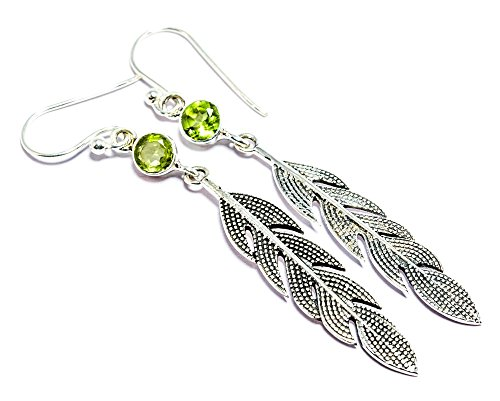 925 Silver Peridot Earrings for Women By Gemoratti