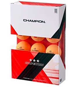 Buy Champion Competition Three Star Balls Orange (Box of 12 Balls) by Champion TT