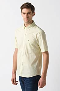 Glc Button Down Short Sleeve Check Woven Shirt
