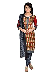 Trendy Fashion Women's Cotton Unstitched Dress Material (TF-0006_Multicolour_Free Size)