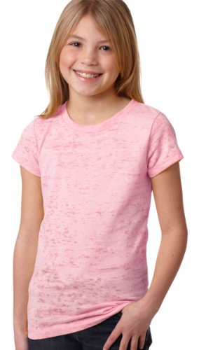 Next Level Youth Baby Rib Jersey T-Shirt, Light Pink, X-Small (Pack6)