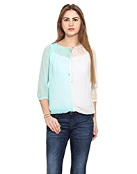 Albely Women's Color Block Gathers Top