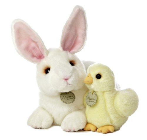 Aurora World Miyoni Rabbit and Chick Plush, 12