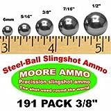 191 pack 3/8' Steel-Ball slingshot ammo (1-1/2 lbs)