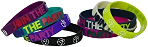 Zumba Fitness LLC Skinny Rubber Bracelet-Pack of 8, Multi, One Size