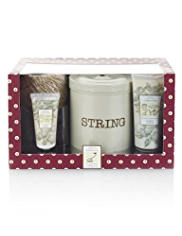 Floral Collection Garderners String Tin with Hand Duo