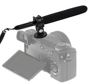 MegaGear Professional Mini Shotgun Camcorder Camera Microphone for Nikon DSLR D600, D800, D3S, D300S, D7000, D5100, D610, Nikon DF, Canon EOS 60D, 6D, 7D, 5D Mark II, 650D, 5D MK III, Rebel T4i, T3i, T2i, 700D, 650D, 600D, 70D,