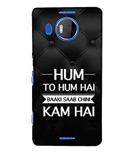 EPICCASE hum to hum Mobile Back Case Cover For Microsoft Lumia 950 XL (Designer Case)