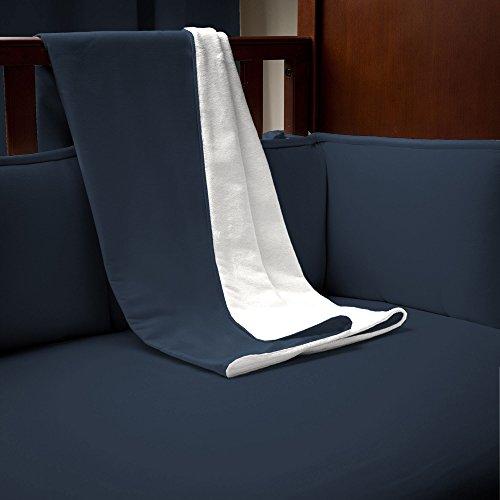 Carousel Designs Solid Navy Crib Blanket