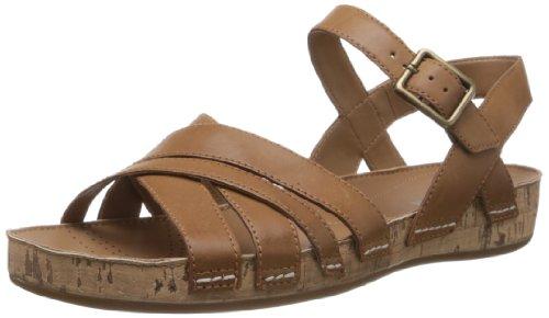Clarks Raspberry Jam, Scarpe con cinturino alla caviglia donna, Marrone (Tan Leather), 38