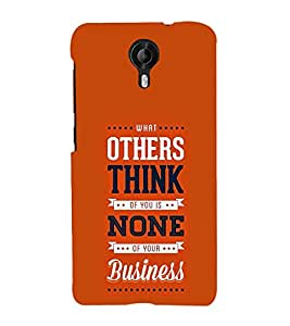 Others think None Business 3D Hard Polycarbonate Designer Back Case Cover for Micromax Canvas Nitro 4G E455